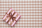 Gift box striped — Stock fotografie