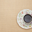 Stock Photo: Coffee on table cloth