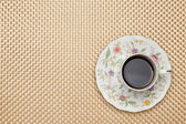 Káva na ubruse — Stock fotografie