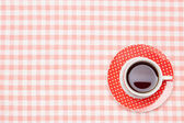 Kaffe på duk — Stockfoto