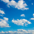 Cloud and blue sky on a sunny day — Stock Photo