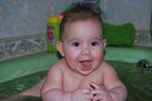 Sıska küçük kız — Stok fotoğraf