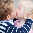 Royalty-Free Stock Photo: Boy and girl kissing.