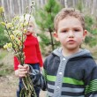 Stock Photo: Boy with willow