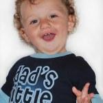 Funny, happy baby — Stock Photo #22116713