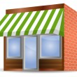 Stock Vector: Storefront Awning in green