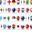 National flags of countries - Stock Vector