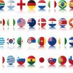Национальные флаги стран — Cтоковый вектор #18550783