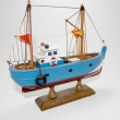 Closeup photo of a Model ship detail — Stockfoto