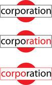 Vector Corporation Logo — Stock Vector