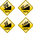 Discount Sale Percent Label Sign Symbol — Stock fotografie