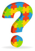 Question mark puzzle — Stock Vector
