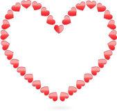 Błyszczący wektor serca na Walentynki — Wektor stockowy