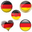 Flag of germany in various shapes — Vettoriali Stock