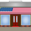 Usa flagged color vector awning — Stok Vektör
