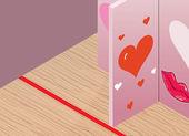 Matchmaking-aktivität in einem geschlossenen ort — Stockvektor