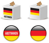 Illustration of vote poll ballot box for german elections — Stock Vector