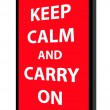 Keep calm and carry on - Stok Vektör