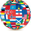Globe of flags — Stock Photo