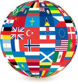Globe of flags — Stock Photo