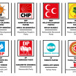 List of political parties in Turkey — Stockvektor