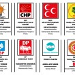 List of political parties in Turkey — Imagens vectoriais em stock