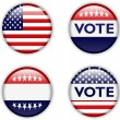 Vote badge for united states — Grafika wektorowa