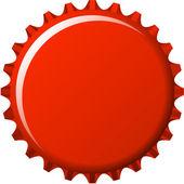 Tappo corona rosso — Vettoriale Stock