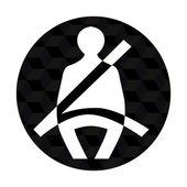 Ikona pasów bezpieczeństwa — Wektor stockowy