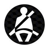 Seatbelt icon — Vetorial Stock
