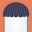 Stock Vector: Awning