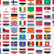 National flags of all european countries — Grafika wektorowa