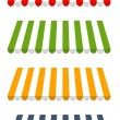 ストックベクタ: Four different colored vector awnings