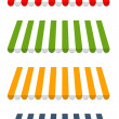 Four different colored vector awnings — Vector de stock #19883715
