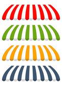 Toldos diferentes colores vector cuatro — Vector de stock