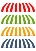 čtyři různé barevné vektorové markýzy — Stock vektor