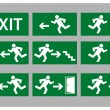 Royalty-Free Stock Vector Image: Exit sign