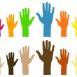 Diversity of hands — Stock Vector