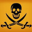 Vector de stock : Pirate Flag