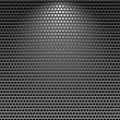 Dark stainless grille metal texture background — Stok Vektör