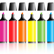 Highlighter pens — Stock Vector