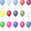 Party Balloons — Vector de stock #19924945