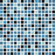Mosaic background in blue and black color tones — Stok Vektör