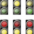 Traffic light  — Stock Vector