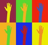 Diversity of hands — Stock Vector