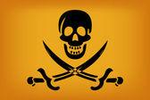 Bandiera pirata — Vettoriale Stock