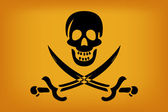 Pirate Flag — Vector de stock
