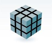 Block of cube — Stock Vector