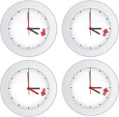 Daylight saving time concept — Stok Vektör