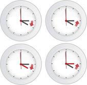 Yaz saati uygulaması kavramı — Stok Vektör